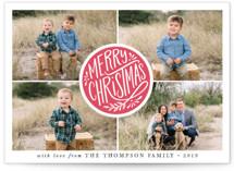 Christmas Seal Letterpress Holiday Photo Cards