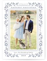 hanukkah star Letterpress Holiday Photo Cards