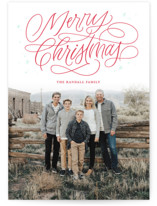 Merry Shimmer Letterpress Holiday Photo Cards