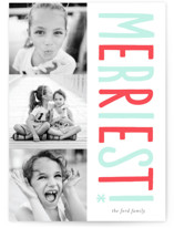 Merriest! Letterpress Holiday Photo Cards