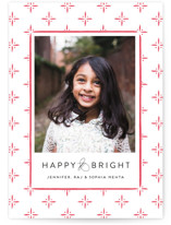 Cross Hatch Letterpress Holiday Photo Cards