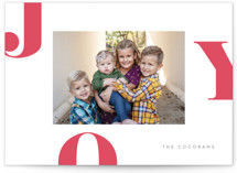 Letters of Joy Letterpress Holiday Photo Cards