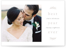 Best Year Ever Letterpress Holiday Photo Cards