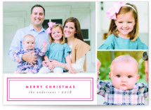 Modern Christmas Letterpress Holiday Photo Cards