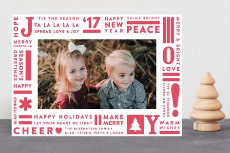 Joy Type Letterpress Holiday Photo Cards