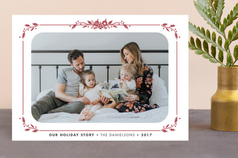 Our Story Letterpress Holiday Photo Cards