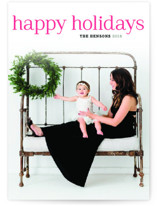 Timeless Greeting Letterpress Holiday Photo Cards