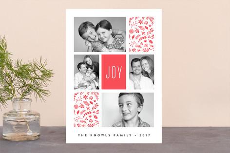 Joyous Rectangles Letterpress Holiday Photo Cards