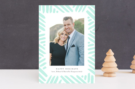 Winter's Frame Letterpress Holiday Photo Cards