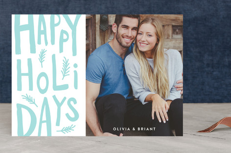 It's holiday time Letterpress Holiday Photo Cards