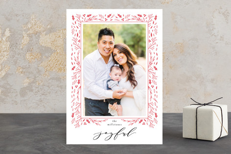 Winter Frame Letterpress Holiday Photo Cards