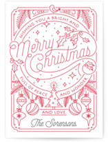 Merry Little Lines Letterpress Holiday Photo Cards