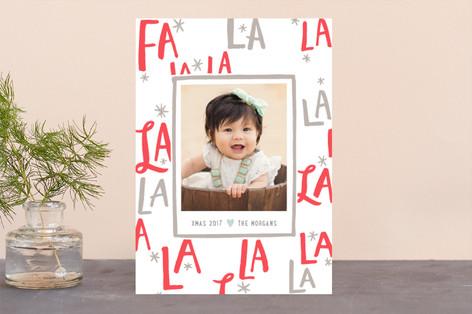 Festive FaLaLa Letterpress Holiday Photo Cards