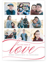 true gifts Letterpress Holiday Photo Cards