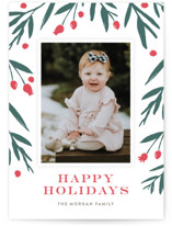 Winter Harvest Letterpress Holiday Photo Cards