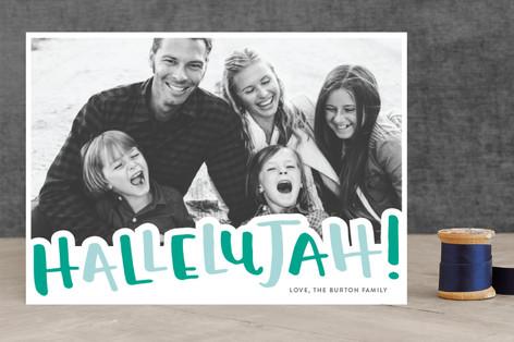 Hallelujah! Letterpress Holiday Photo Cards