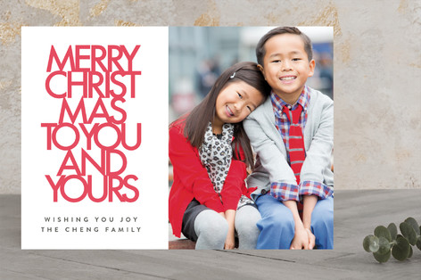 Big Christmas Letterpress Holiday Photo Cards