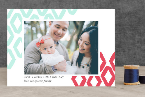 Diamond Frame Letterpress Holiday Photo Cards