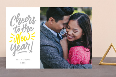 new cheer Letterpress Holiday Photo Cards