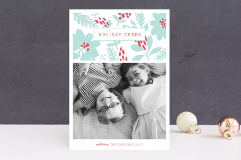 Holiday Daydream Letterpress Holiday Photo Cards