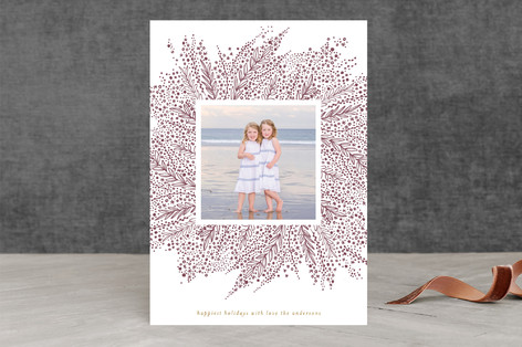 Burst Letterpress Holiday Photo Cards
