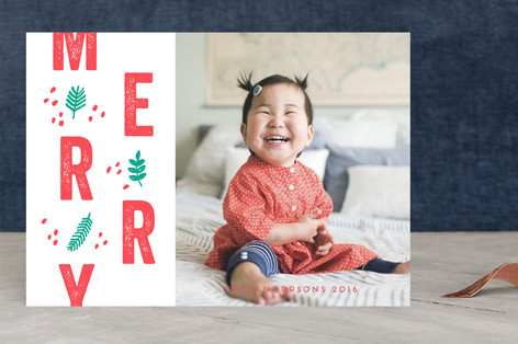 Be Merry Letterpress Holiday Photo Cards