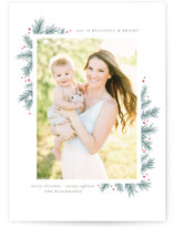 All is Beautiful + Bright Letterpress Holiday Photo Cards