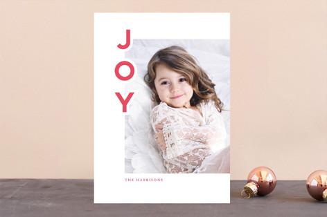 Minimal Joy Letterpress Holiday Photo Cards