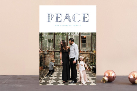 Through the Window Letterpress Holiday Photo Cards