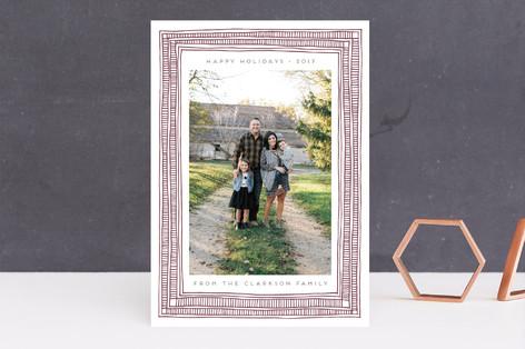 Thin Handmade Frame Letterpress Holiday Photo Cards