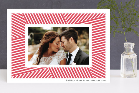Gift Wrapped Letterpress Holiday Photo Cards
