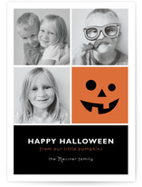 Little Pumpkin Blocks Halloween Cards