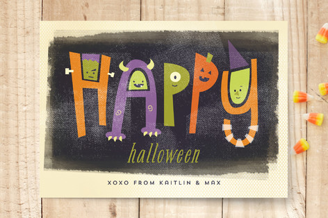 Monster Letters Halloween Cards