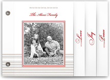 Classic Ribbon Stripes Holiday Minibook&amp;trade; Cards