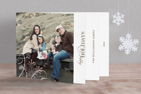 Snowflake Whimsy Holiday Minibook™ Cards