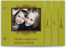 Ornate Frame Holiday Minibook&amp;trade; Cards