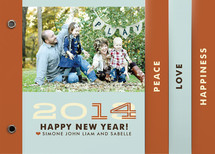 Hip New Year Holiday Minibook&amp;trade; Cards