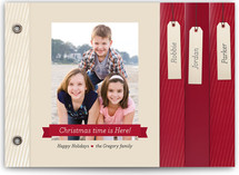 Ribbon and Tags Holiday Minibook™ Cards