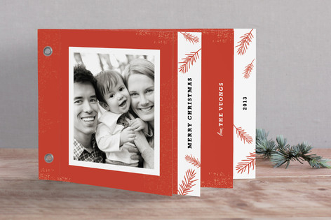 Rustic Pine Holiday Minibook™ Cards