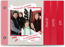 Peppermint Ribbon Holiday Minibook&amp;trade; Cards