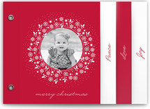 Red Wreath Holiday Minibook&amp;trade; Cards