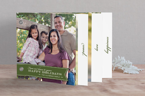 Red Ribbon Happiness Holiday Minibook™ Cards