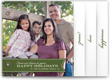 Red Ribbon Happiness Holiday Minibook&amp;trade; Cards