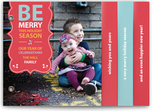 Be Merry Banner Holiday Minibook&amp;trade; Cards