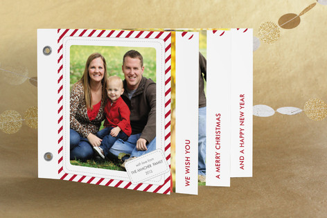 Candy Cane Christmas Holiday Minibook&trade; Cards