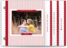 Polka Stripes Holiday Minibook™ Cards