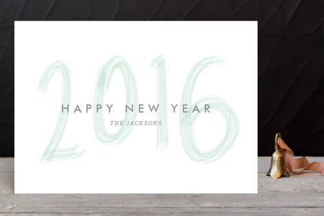 Brushed New Year Holiday Petite Cards