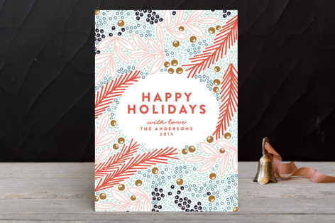 Flourish With Oval Holiday Petite Cards