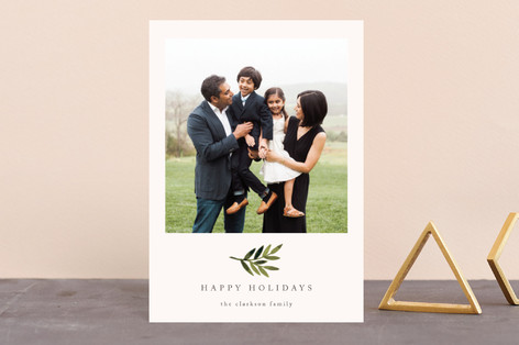 Simple Olive Branch Holiday Petite Cards