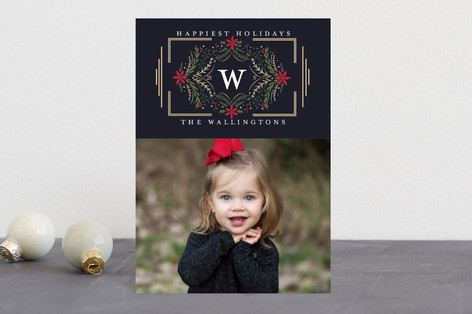 Botanical Monogram Holiday Petite Cards
